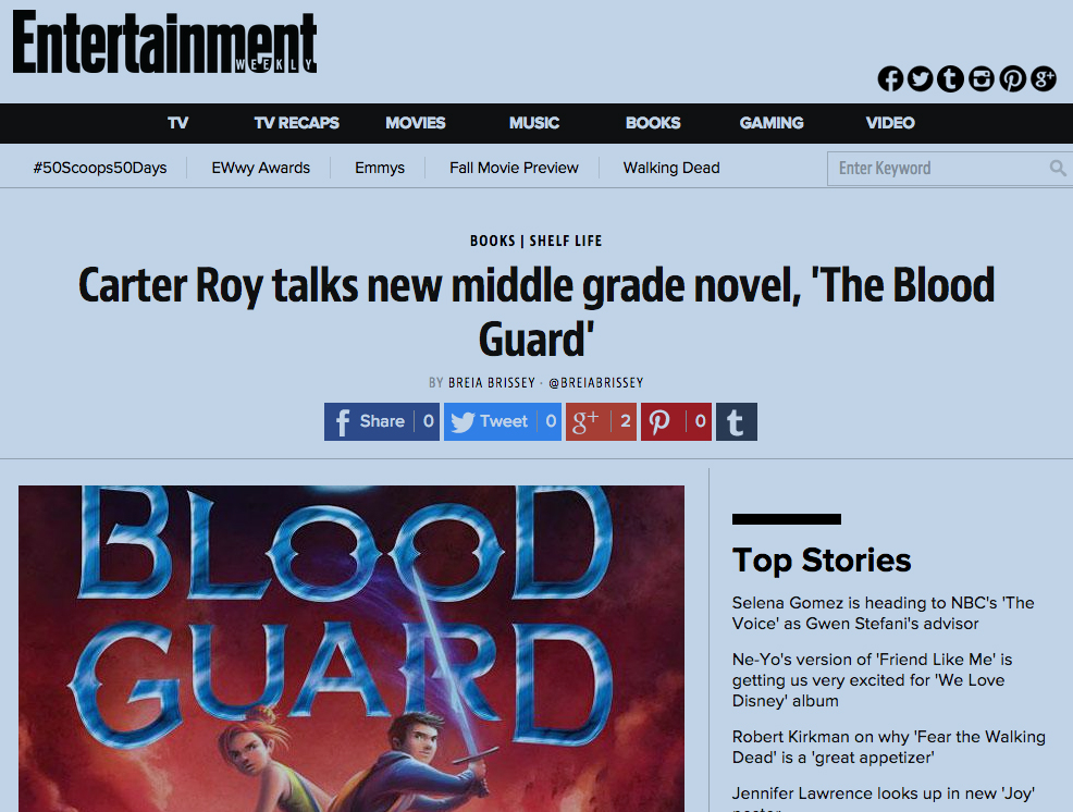 EW Interview with Carter Roy