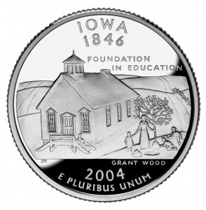 Iowa_quarter,_reverse_side,_2004
